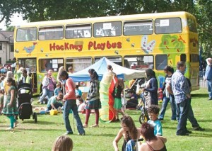 Playbus Milfields Park, Hackney