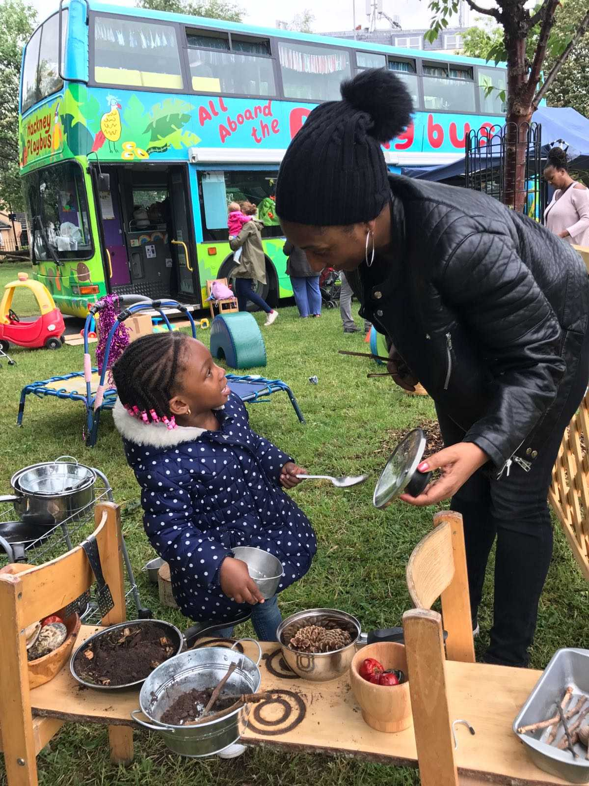Mud Kitchen   Mother And Daughter