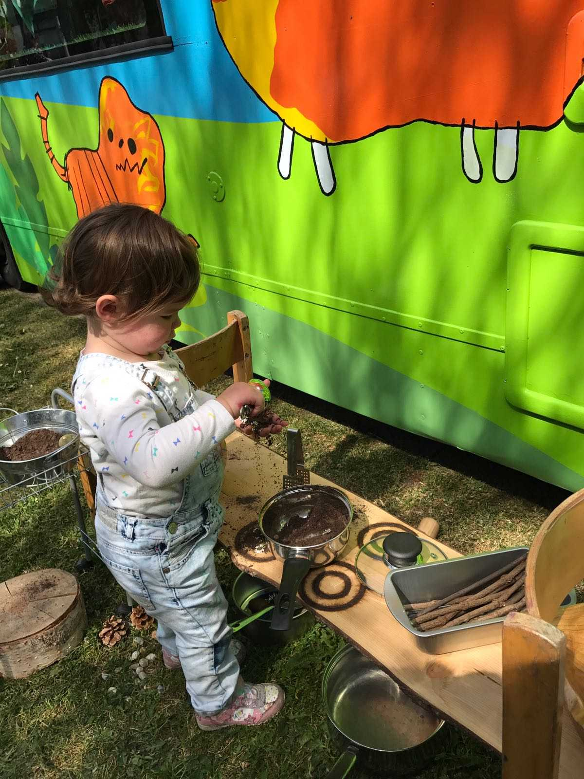 Mud Kitchen   Bus In Background